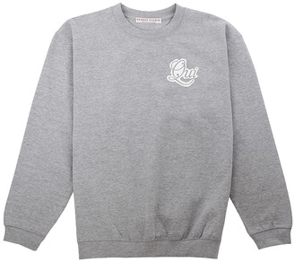 Sabrina Dehoff Grey Sweatshirt with print QUI - L / Grey Heather - Grey