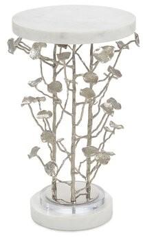 John-Richard Collection Marble Top Pedestal End Table