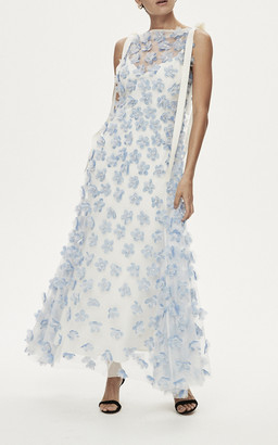 Rachel Gilbert Tommy Embellished Organza Gown