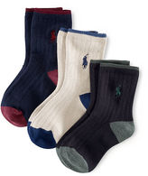 Ralph Lauren 2-7 Ribbed Crew Socks 3-Pack