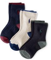 Ralph Lauren Ribbed Crew Socks 3-Pack