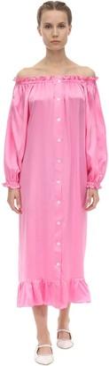 Sleeper Zephyr Satin Midi Dress