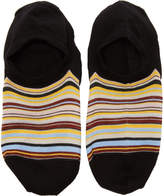 Paul Smith Black Multistripe No Show Socks