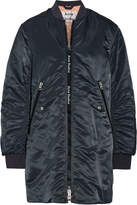 Acne Studios Coos Ruched Shell Bomber Jacket - Midnight blue