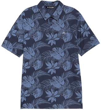 Travis Mathew Ball Hog Floral Printed Polo Shirt