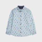 Paul Smith Boys' 7+ Years Blue Symbol Print 'Merri' Shirt