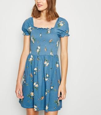 New Look Floral Shirred Milkmaid Dress
