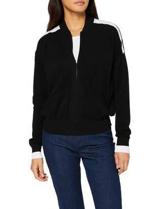Benetton Women's Knitted Bomber Jacket