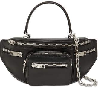 Alexander Wang ATTICA LEATHER TOP HANDLE BELT BAG