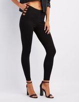 Charlotte Russe Caged High-Rise Leggings