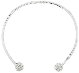Oscar de la Renta Pave Ball Collar Necklace