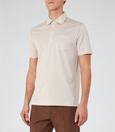 Reiss Reiss Spirito - Pique Polo Shirt In Brown