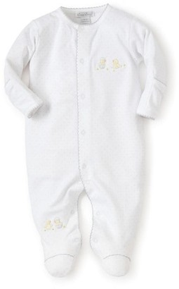 Kissy Kissy Baby's Embroidered Hatchlings Dot Print Cotton Footie