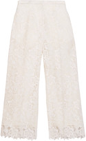 Rochas Guipure lace wide-leg pants