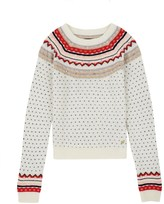 Juicy Couture Girls Sweater Embellished Fair Isle Pullover