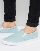 Asos Slip On Sneakers in Pastel Blue