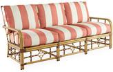 Lane Venture Celerie Kemble For MImi Sofa - Coral Sunbrella - frame, natural; upholstery, coral/white