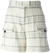 MSGM checked shorts - women - Cotton/Polyamide/Polyester/Modal - 38