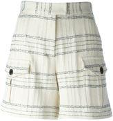 MSGM checked shorts - women - Cotton/Polyamide/Polyester/Modal - 40