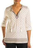 Olsen Patterned Peasant Top