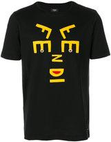 Fendi appliqué face T shirt