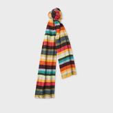 Paul Smith Men's 'Artist Stripe' Wool-Cashmere Scarf