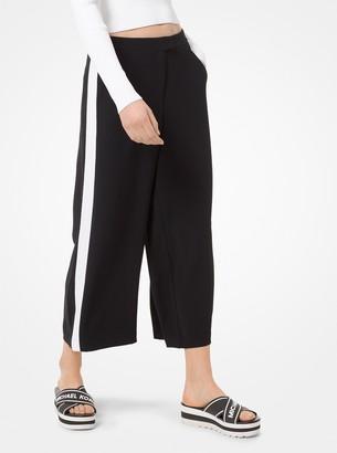 MICHAEL Michael Kors Contrast Stripe Wide-Leg Pants