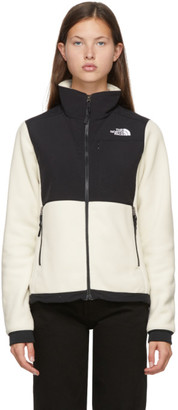 The North Face Off-White and Black Denali 2 Jacket