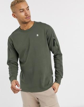 G Star G-Star zip pocket detail light weight sweat in khaki