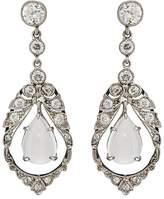 Stephanie Windsor Antiques Women's White Diamond & Moonstone Drop Earrings
