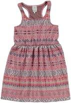 Ella Moss Jacquard Dress (Kid)-Coral-12