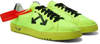 Off-White Off White 2.0 Distressed Suede-Trimmed Mesh Sneakers