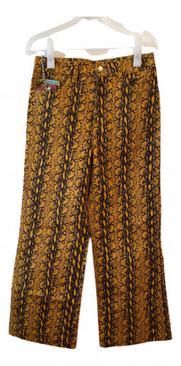 ALEXACHUNG Alexa Chung Yellow Denim - Jeans Jeans