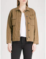 The Kooples Stud Detail Military Cotton Blend Jacket