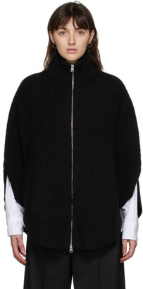 MM6 MAISON MARGIELA Black Rib Knit Circle Turtleneck