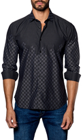 Jared Lang Printed Spread Collar Sportshirt