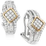 Wrapped in LoveTM Diamond J-Hoop Earrings (1 ct. t.w.) in 14k Gold and Sterling Silver