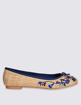M&S Collection Embroidered Pump Shoes