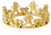 Armenta 18k Gold Half Crown Stackable Ring