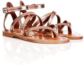K. Jacques Metallic Leather Epicure Sandals