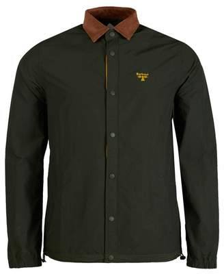 Barbour Beacon Beacon Healey Woven Overshirt Colour: Forest, Size: SMA