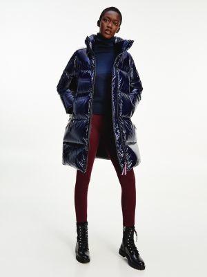 Tommy Hilfiger High Shine Down Puffer Coat