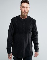 Cheap Monday Deprived Knit Half Cable Sweater