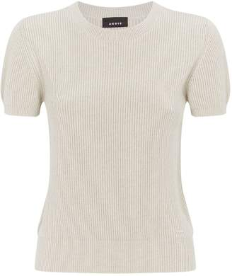 Akris Cashmere-Silk Short-Sleeved Sweater