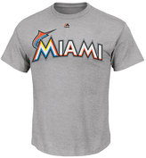 Majestic Men's Miami Marlins Team Wordmark T-Shirt