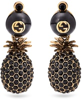 Gucci Pineapple crystal-embellished earrings