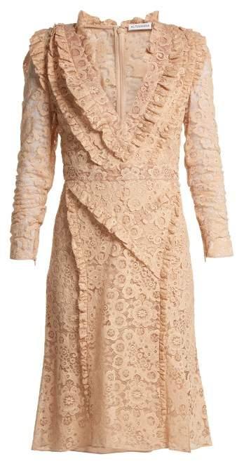 Altuzarra Ourika Valencienne-lace Dress - Womens - Beige