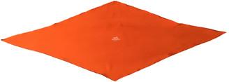 Hermã ̈S HermAs Losange Orange Silk Scarves