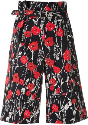 Reinaldo Lourenço Belted Floral Shorts