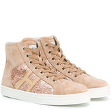 Hogan high-top sneakers - kids - Leather/Suede/rubber - 28